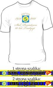 Projekt jubileuszowej koszulki oraz szalika Stali Poniatowa
